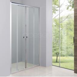 Paroi portes coulissantes 140 cm finition chromée - BELLAGIO