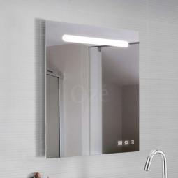 Miroir carré 80x80 cm à LED et musique par enceintes bluetooh - COSMOS