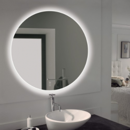 Miroir rond rétro éclairant 75 cm - DACHA