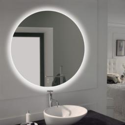 Miroir rond rétro éclairant 90 cm - DACHA