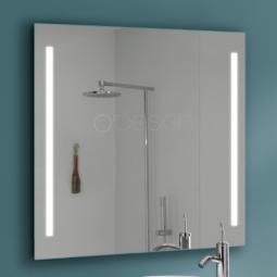 Miroir carré 80x80 cm à LED - CYBEL