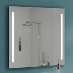 Miroir rectangle 100x80 cm à LED - CYBEL