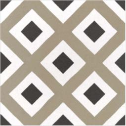 CAPRICE DECO - CITY COLOURS - Carrelage 20x20 cm aspect carreaux de ciment géométrique vert