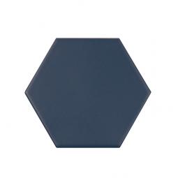 KROMATIKA - NAVAL BLUE - Carrelage hexagonal 11,6x10,1 cm Bleu foncé