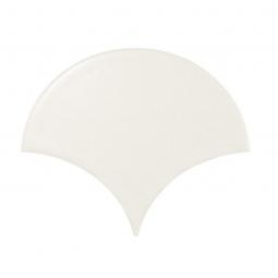 SCALE WHITE MATT - Faience écaille de poisson 10,6x12 cm blanc mate