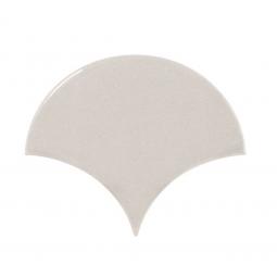 SCALE LIGHT GREY - Faience écaille de poisson 10,6x12 cm gris perle brillant