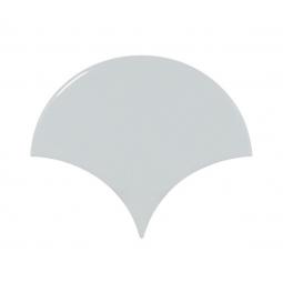 SCALE SKY BLUE - Faience écaille de poisson 10,6x12 cm bleu pastel brillant