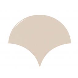 SCALE GREIGE - Faience écaille de poisson 10,6x12 cm beige brillant