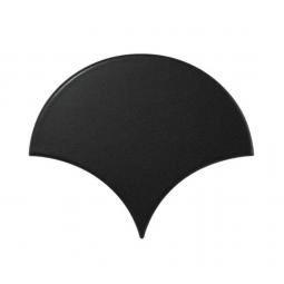 SCALE BLACK MATT - Faience écaille de poisson 10,6x12 cm noir mate