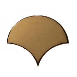 SCALE MÉTALLIC - Faience écaille de poisson 10,6x12 cm or doré brillant