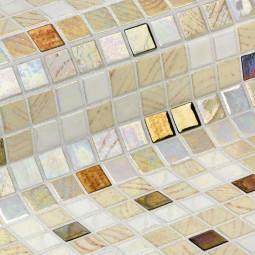 COCKTAIL DAIKIRI - Mosaïque en pâte de verre beige nuancé 2,5x2,5 cm