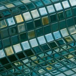 METAL ESMERALDA - Mosaïque en pâte de verre coloris émeraude  2,5x2,5 cm