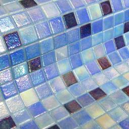 FOSFO DELPHINUS - Mosaïque en pâte de verre phosphorécente  2,5x2,5 cm