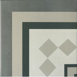 CAPRICE PROVENCE ANGLE - Carrelage 20x20 cm aspect carreaux de ciment gris