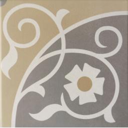 CAPRICE - LOIRE - Carrelage 20x20 cm aspect carreau de ciment fleuri