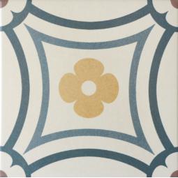 CAPRICE - SAINT TROPEZ - Carrelage 20x20 cm aspect carreau de ciment motif floral coloré