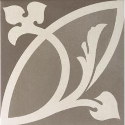 CAPRICE - LIBERTY TAUPE - Carrelage 20x20 cm aspect carreaux de ciment rosace taupe