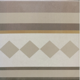CAPRICE - LOIRE BORDURE - Carrelage 20x20 cm aspect carreaux de ciment beige