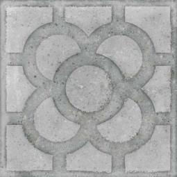 WORLD STREETS ACORN CEMENTO 20 x 20 cm - Carrelage aspect carreaux de ciment fleur gris