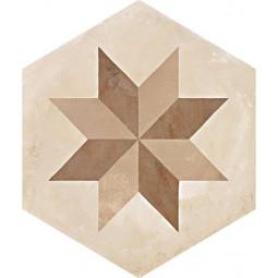 TERRA STELLA HEXAHONAL BEIGE - Carrelage hexagonal motif étoile