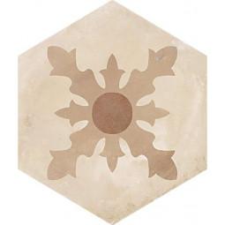 TERRA CARDINALE HEXAGONAL BEIGE - Carrelage aspect ciment vieilli