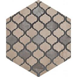 TERRA COLONIALE HEXAGONAL GRIS - Carrelage aspect ciment vieilli