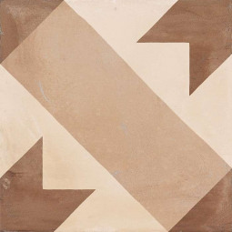 TERRA STELLA - 20x20 cm - BEIGE - Carrelage aspect ciment vieilli motif étoile