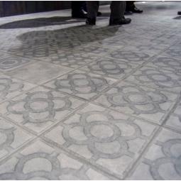 WORLD STREETS ACORN GRIS Carrelage aspect carreaux de ciment fleur