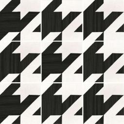 CAPRICE DECO - TWEED B&W - Carrelage 20x20 cm aspect carreaux de ciment blanc et noir