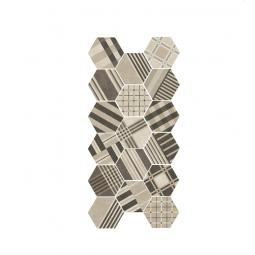 HEXATILE CEMENT - GEO SAND - Carrelage 17,5x20 cm patchwork hexagonal géométrique beige