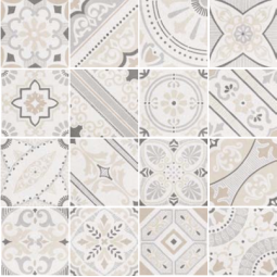 MICRO - MAJESTY - Carrelage 20x20 cm patchwork imitation ciment effet Terrazzo