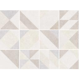 MICRO ELEMENTS - TAUPE - Carrelage 20x20 cm patchwork imitation carreaux ciment géométrique