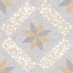 GADNER CREMA 30 x 30 cm - Carrelage aspect carreaux de ciment motif étoile