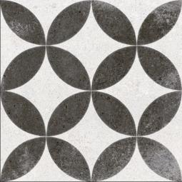 KERALA NEGRO NASSAU Carrelage aspect carreaux de ciment motif rosace
