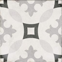 ART NOUVEAU-KARLSPLATZ GREY -  Carrelage 20X20 cm aspect carreaux de ciment vieilli gris
