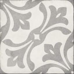 ART NOUVEAU - LA RAMBLA GREY - Carrelage 20X20 cm aspect carreaux de ciment vieilli gris
