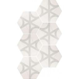 CARRARA FLOW Carrelage hexagonal 17,5X20 cm imitation marbre décor mate