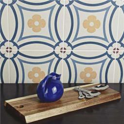 CAPRICE SAINT TROPEZ Carrelage aspect carreau de ciment motif floral