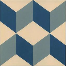 1900 GÜELL 1 20 x 20 cm Carrelage motif cube Aspect carreaux de ciment